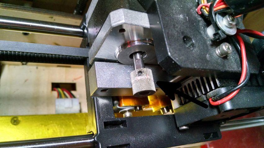 Feed gear for filament on a 3D printer