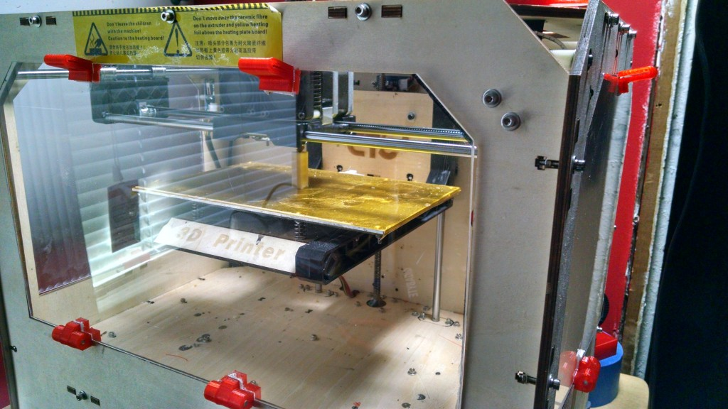 3D printer printing test print