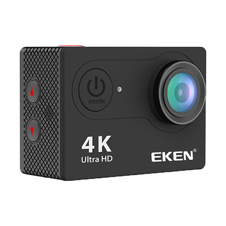 H9R 4K Action camera from Eken in black not sporting a case