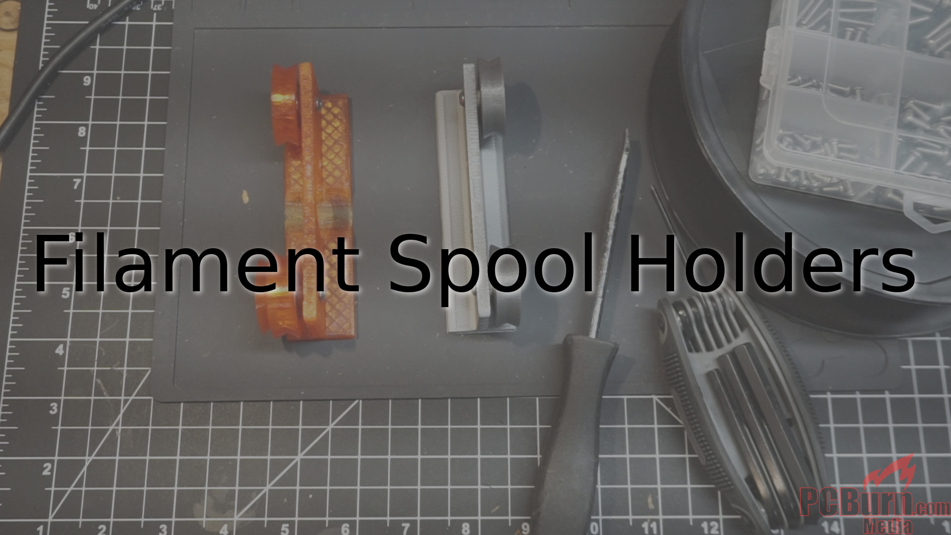 Filament spool holder with an optional motor attachment