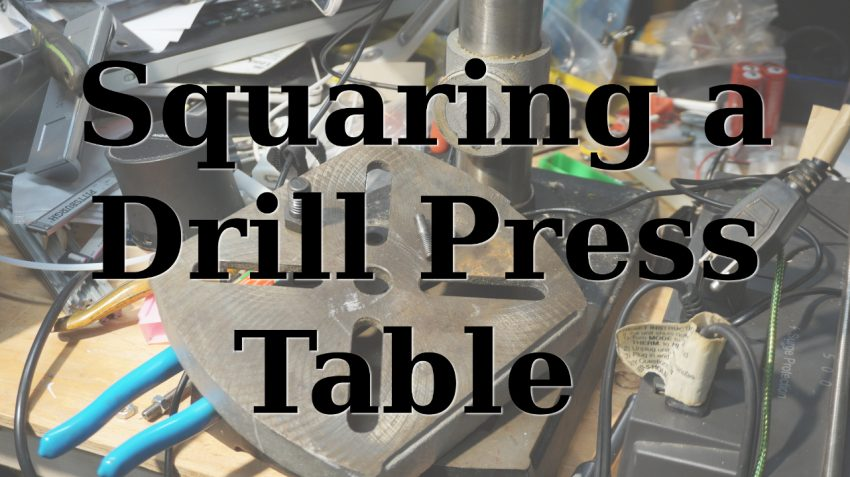 An image of a drill press table taken removed from a bench drill press.