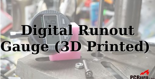 Measuring Runout on a Drill Press (3D Printed Tool)
