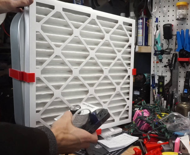 Variable Speed Shop Fan Air Filter with wired fan speed controller