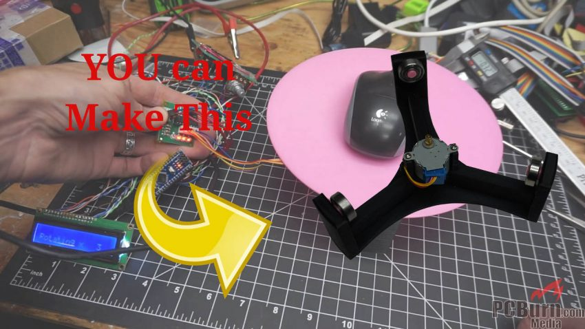 Motorized Turntable DIY Build for Photo, Video, or 3D Scanning