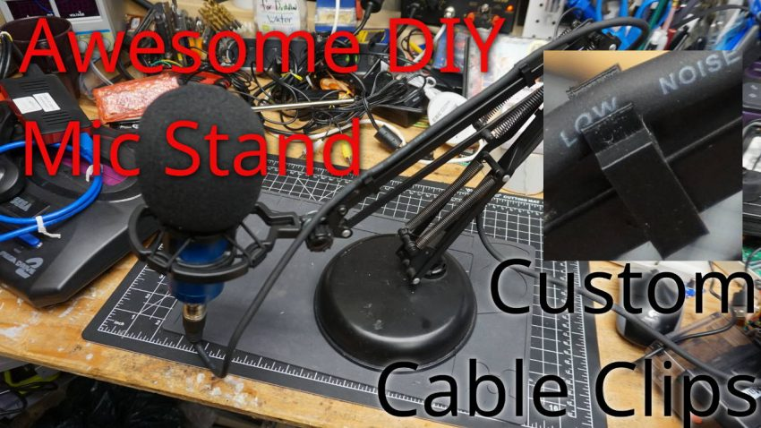 Microphone Stand DIY from a Swing Arm Lamp