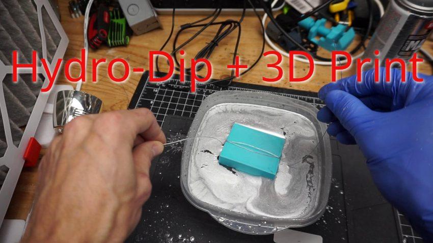 Hydro Dip PLA 3D Prints