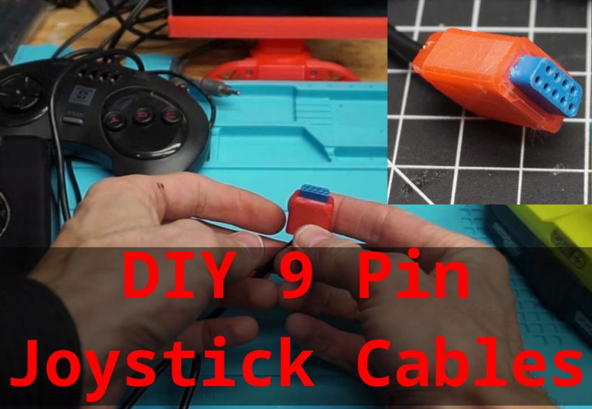 3D printed 9 Pin Joystick Cable End