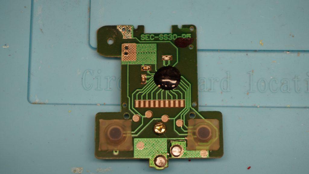 Circuit Board of McDonald's Sega Knuckles Soccer handheld LCD Game