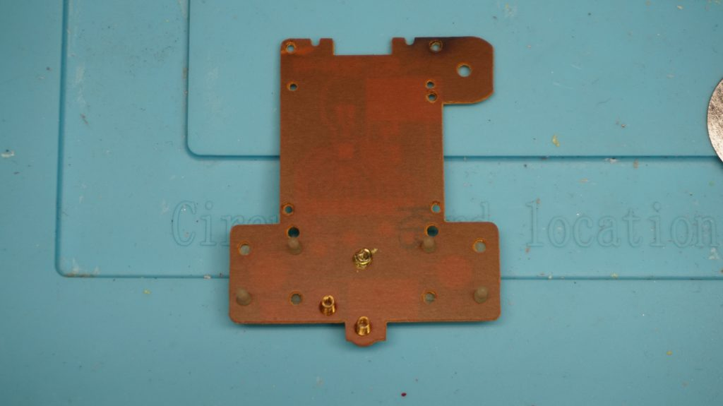 Knuckles Soccer Sega Game Circuit Board Backside showing spring electrical connectors