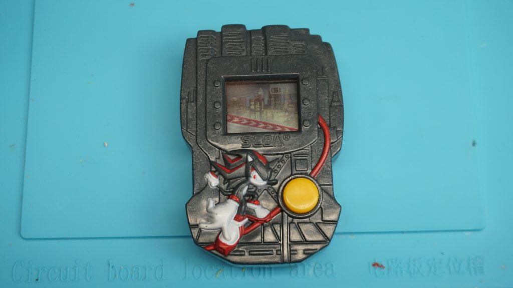Shadow Hedgehog jumping game from McDonald's and Sega, front side