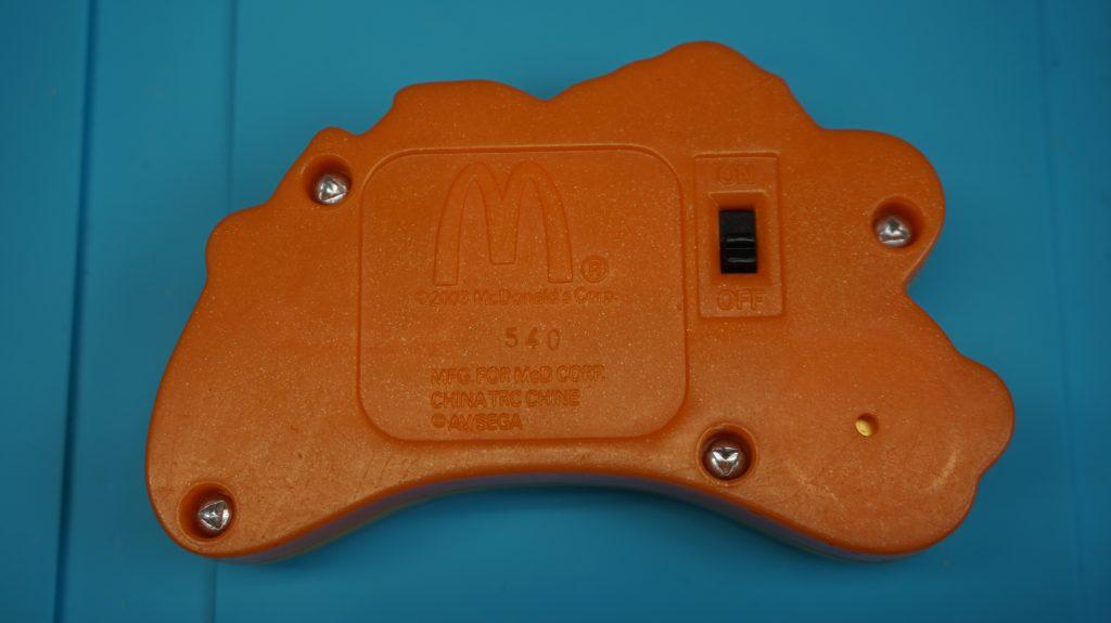 Monkey Ball handheld LCD Game from McDonald's Sega 2003, back
