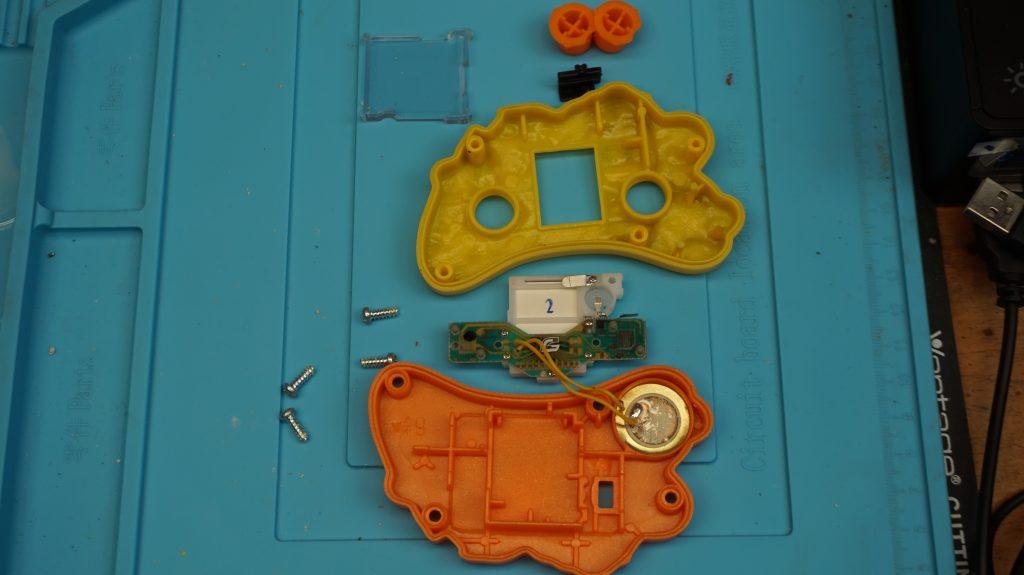 Inside Components of 2003 McDonald's Sega handheld LCD Game