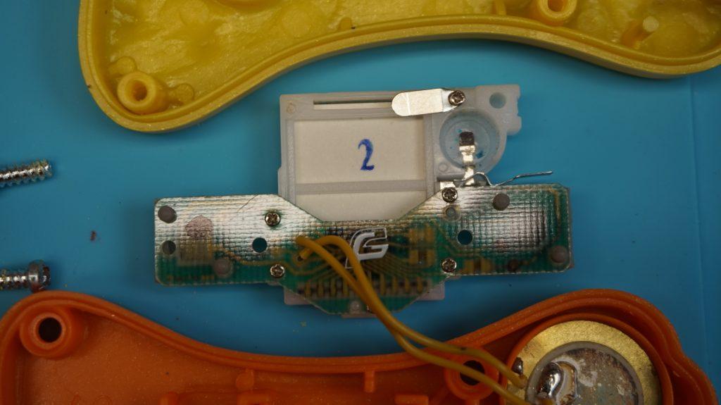Inside Components of 2003 McDonald's Sega handheld LCD Game, Circuit Board Rear