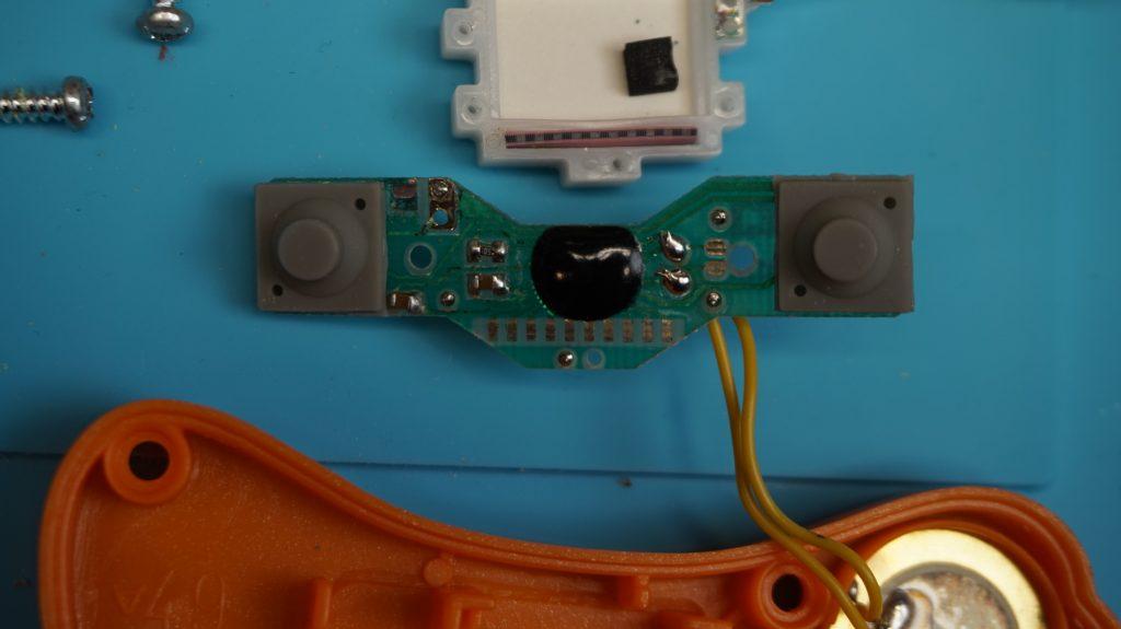 Inside Components of 2003 McDonald's Sega handheld LCD Game, Circuit Board Front